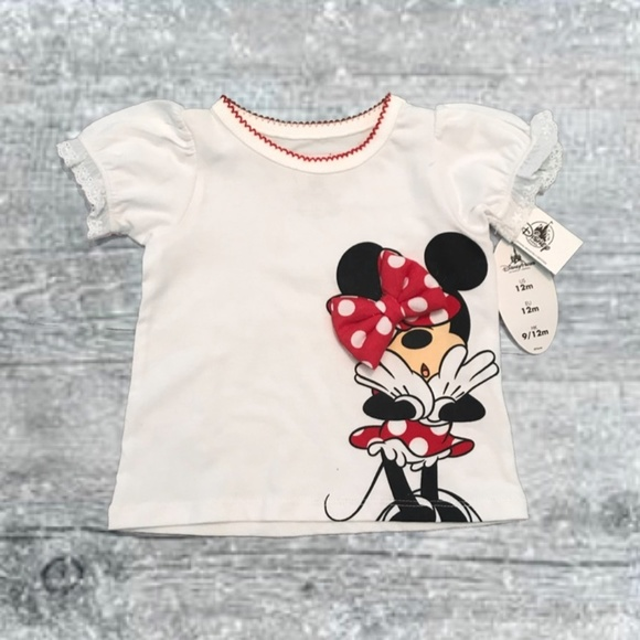 Disney Other - 🎄NWT Disney Minnie Mouse Infant White T-Shirt 12M